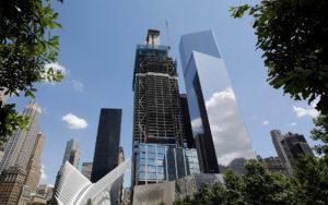 3 World Trade Center alcanzó su altura máxima en Nueva York