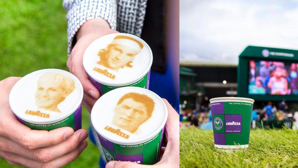 El café italiano en Wimbledon llega impreso con las imágenes de los jugadores