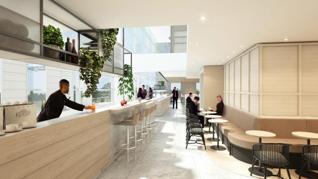 Así será el nuevo salón ejecutivo de la aerolínea Qantas en el aeropuerto de Brisbane