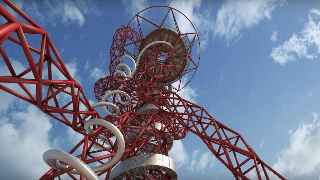 Inauguró en Londres el tobogán-túnel más largo del mundo