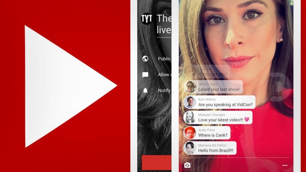 YouTube sale a enfrentar a Periscope y Facebook Live