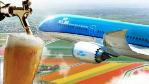 KLM y Heineken llevan por primera vez cerveza de barril a los aviones