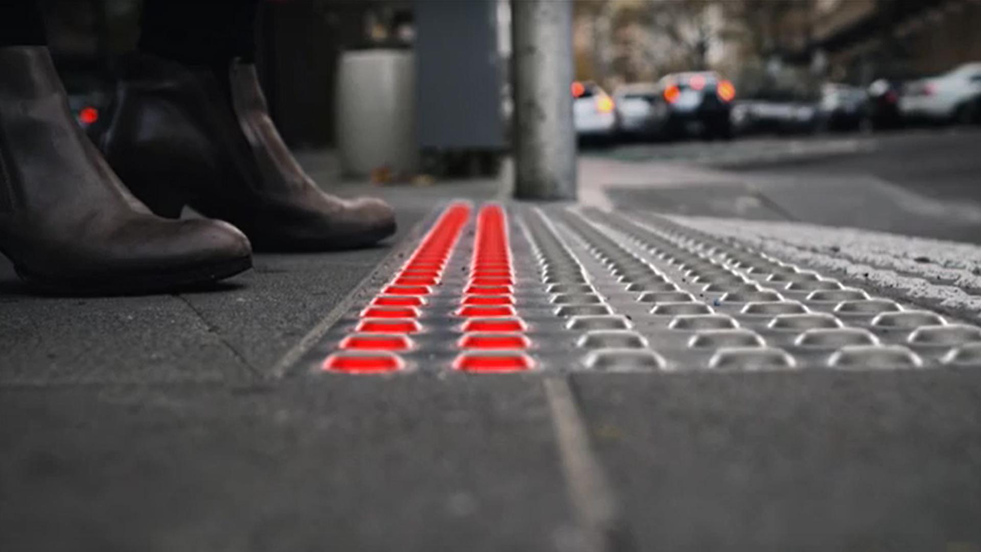 Iluminación inteligente en el suelo para evitar accidentes de peatones