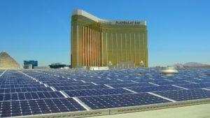 MGM inauguró el techo solar más grande de Estados Unidos en Las Vegas
