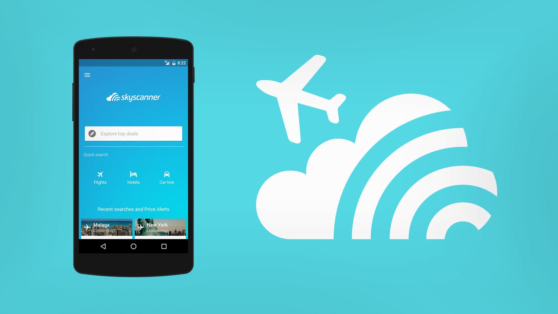 Skyscanner comienza a agregar hoteles y autos a su app de vuelos
