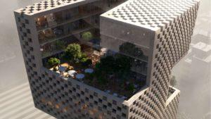 El original proyecto ganador para las nuevas oficinas de un banco en Beirut