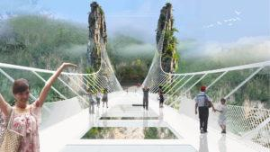 [Video] China inauguró el puente de cristal más alto y largo del mundo