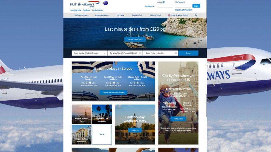 British Airways rediseña su sitio web