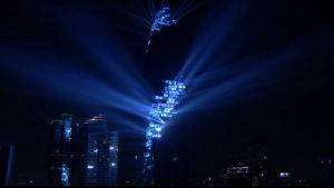 Se presentó el edificio más alto de Tailandia con un imponente show de luces