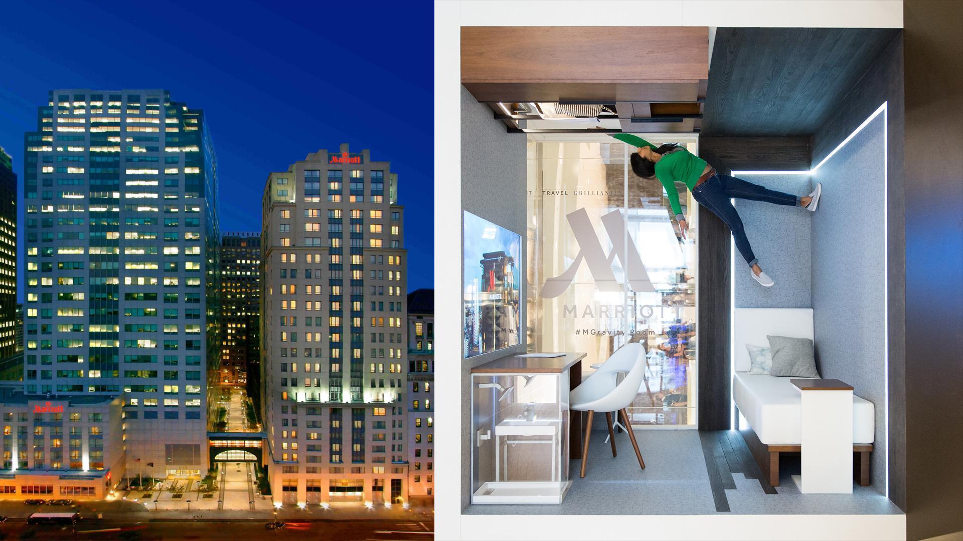 Marriott desafía la gravedad con su nueva habitación