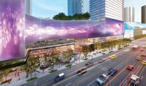 El hotel W de Los Ángeles recubierto por una enorme pantalla LED