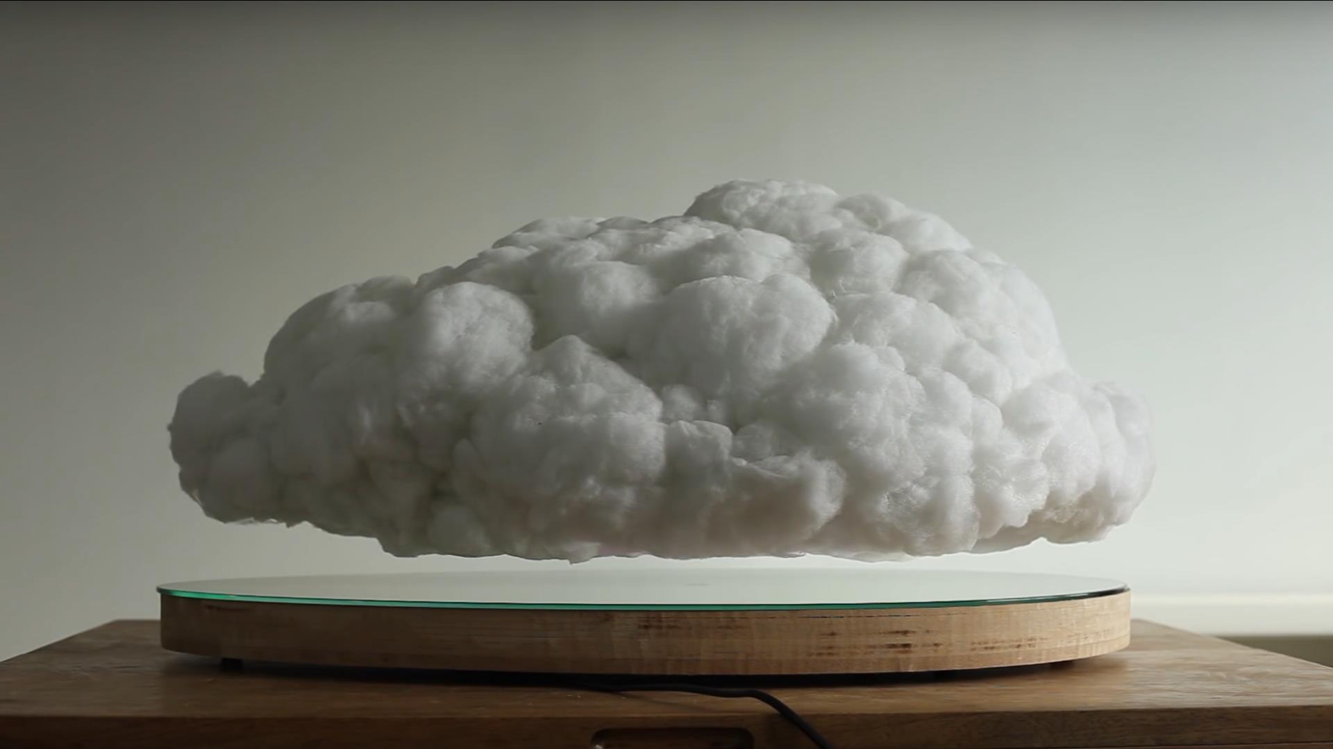 El sorprendente parlante en forma de nube que levita
