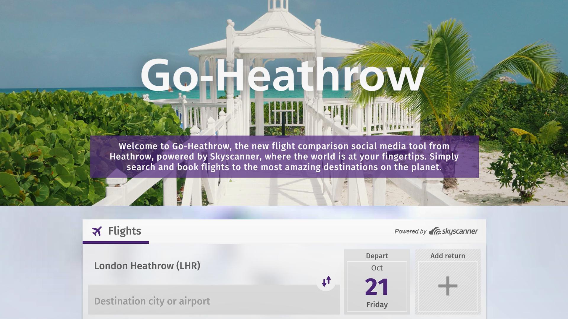 El aeropuerto de Heathrow lanzó el primer buscador de vuelos dentro de Facebook