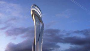 Comienzan a construir la torre de control del aeropuerto de Estambul inspirada en un tulipán