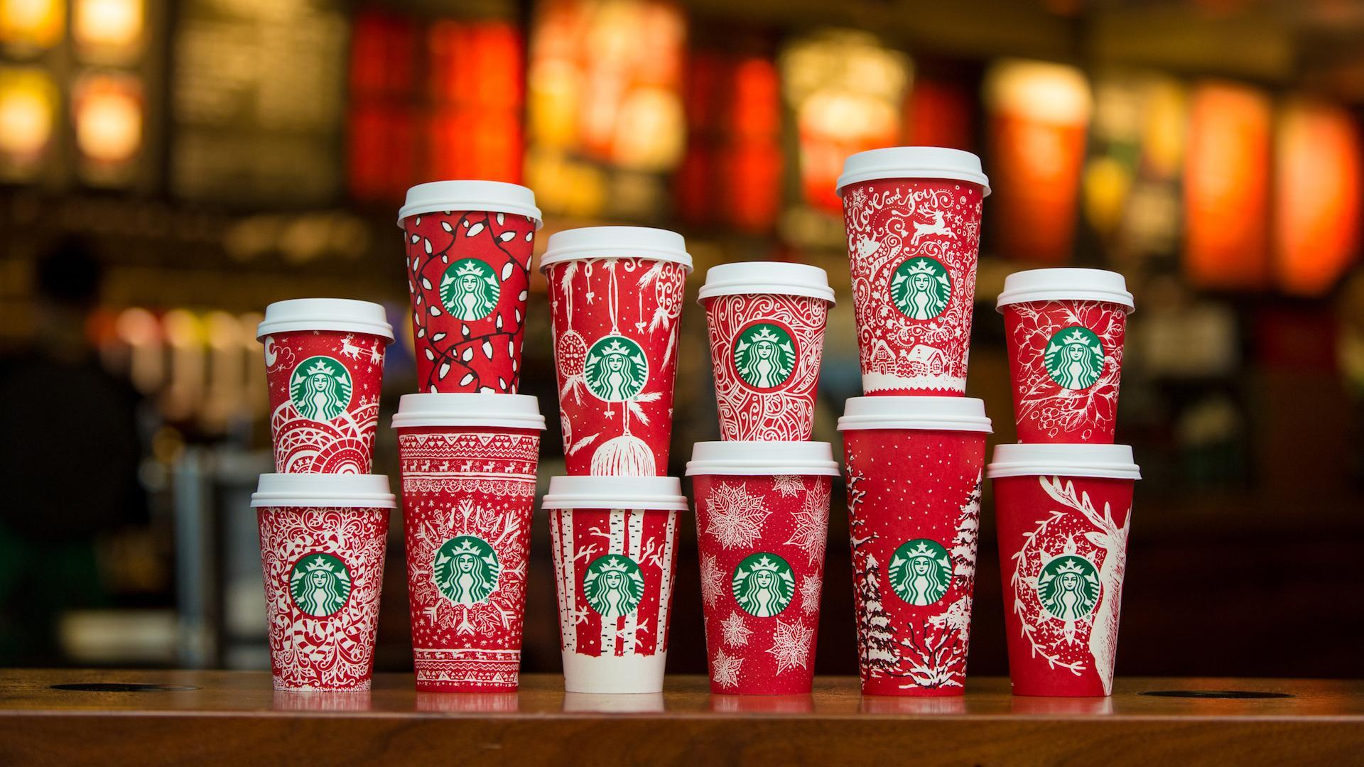 Los nuevos vasos de Starbucks para esta Navidad
