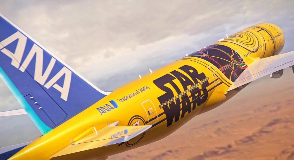 Llega el nuevo avión de Star Wars, esta vez de C-3PO