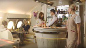 Así será el nuevo lounge en los Airbus A380 de Emirates