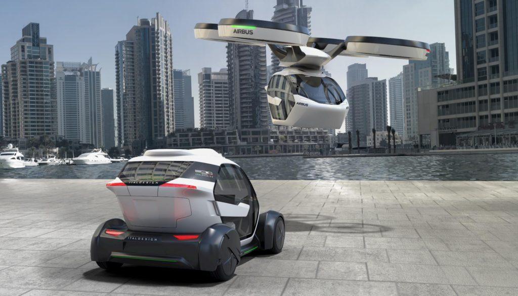 Así es el auto volador modular de Airbus