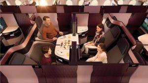 Qatar mostrará el primer avión con su revolucionaria nueva cabina Business Class