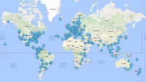 Este mapa muestra los passwords de WiFi de los aeropuertos del mundo