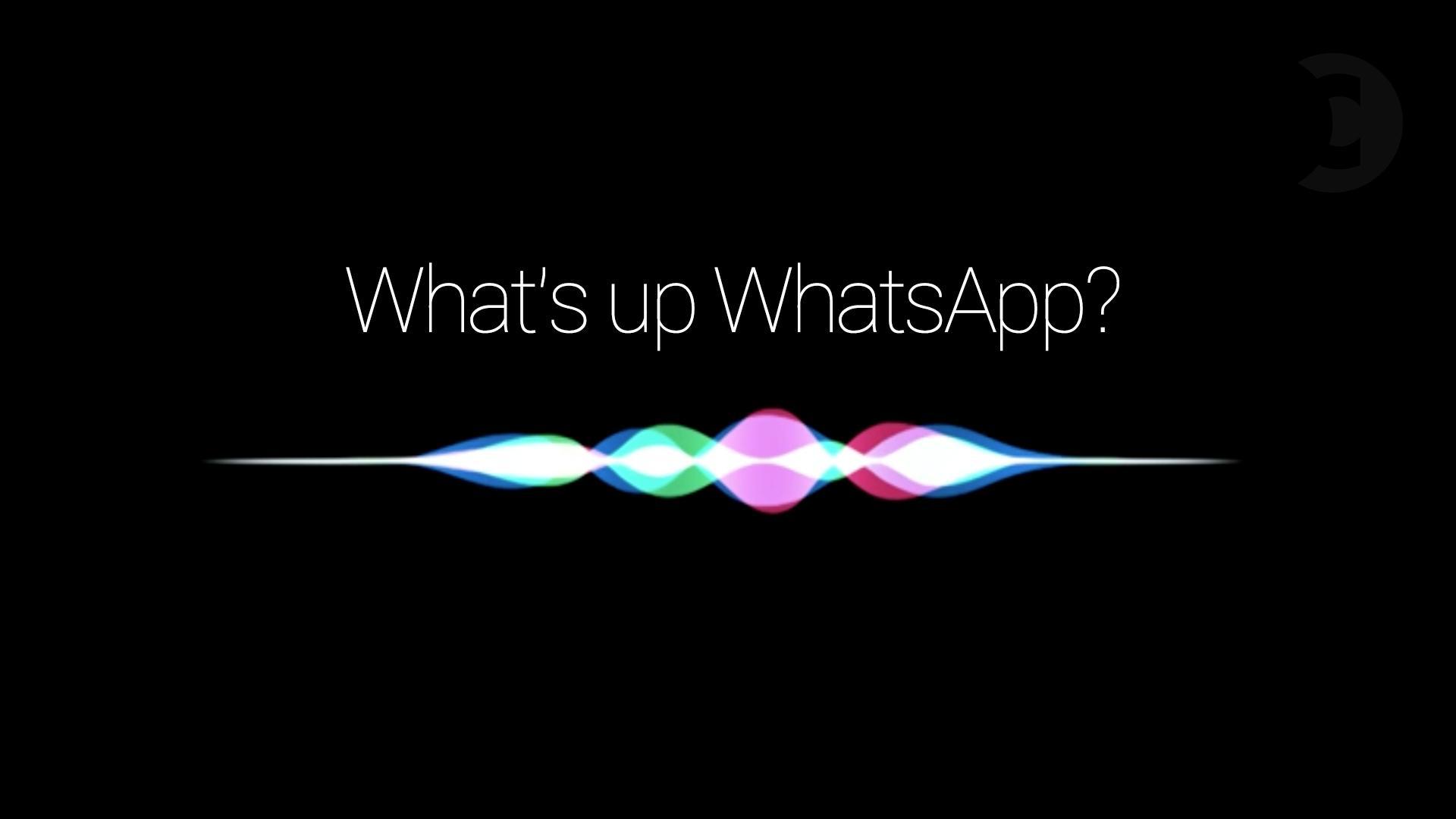 Siri ahora habla con WhatsApp
