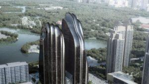 Las torres con forma de montaña se preparan para inaugurar