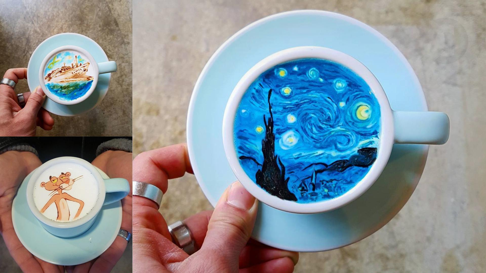 Un café en Corea lleva el coffee-art a otro nivel