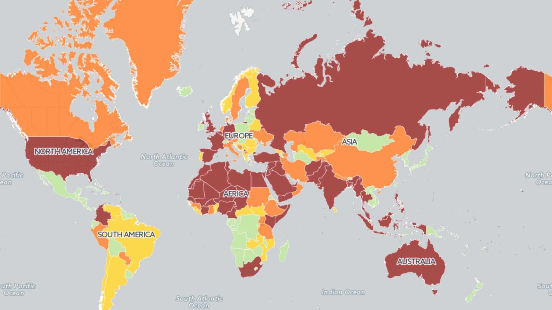 Estos son los países en donde es más probable que ocurran ataques terroristas