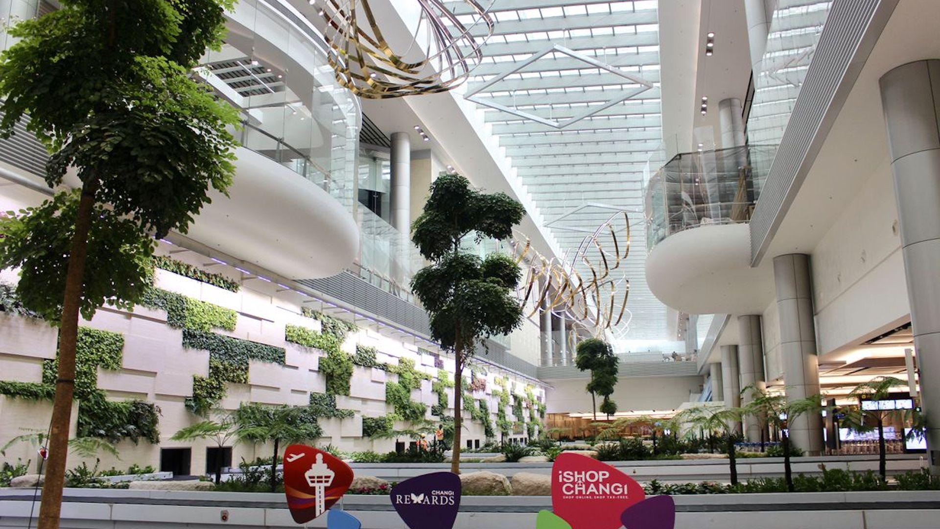 Así quedará el aeropuerto de Singapur: árboles, paredes verdes y mucho diseño