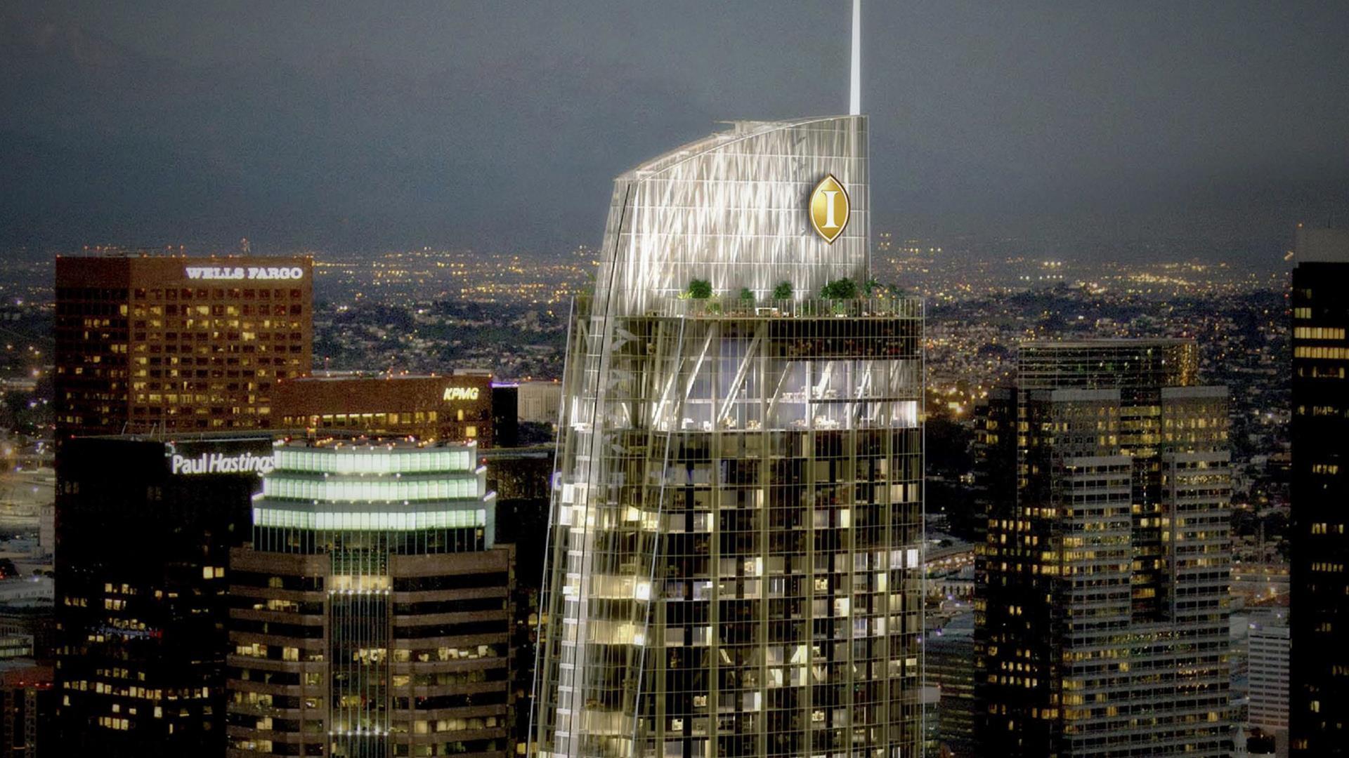 Inauguró el hotel más alto de Los Ángeles