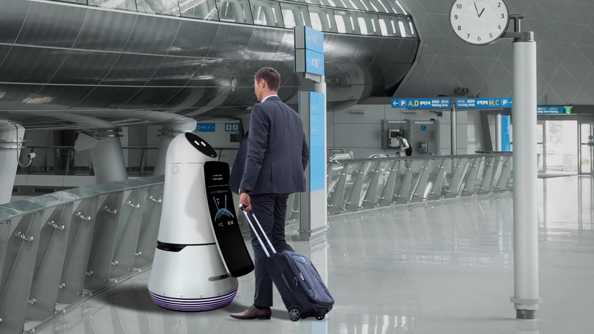 [Video] Así son los robots de LG que interactuarán con nosotros en los aeropuertos