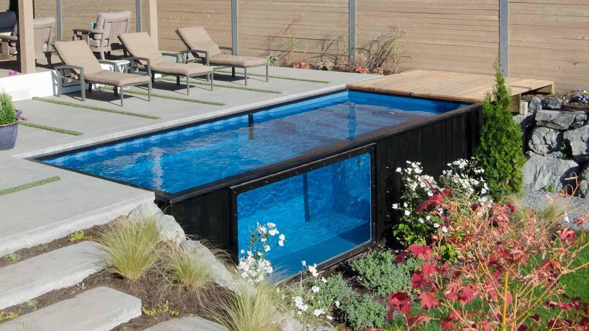 [Imágenes] Las revolucionaras piscinas hechas con contenedores están a la venta