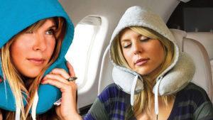 HoodiePillow es la almohada con capucha para viajar más cómodos