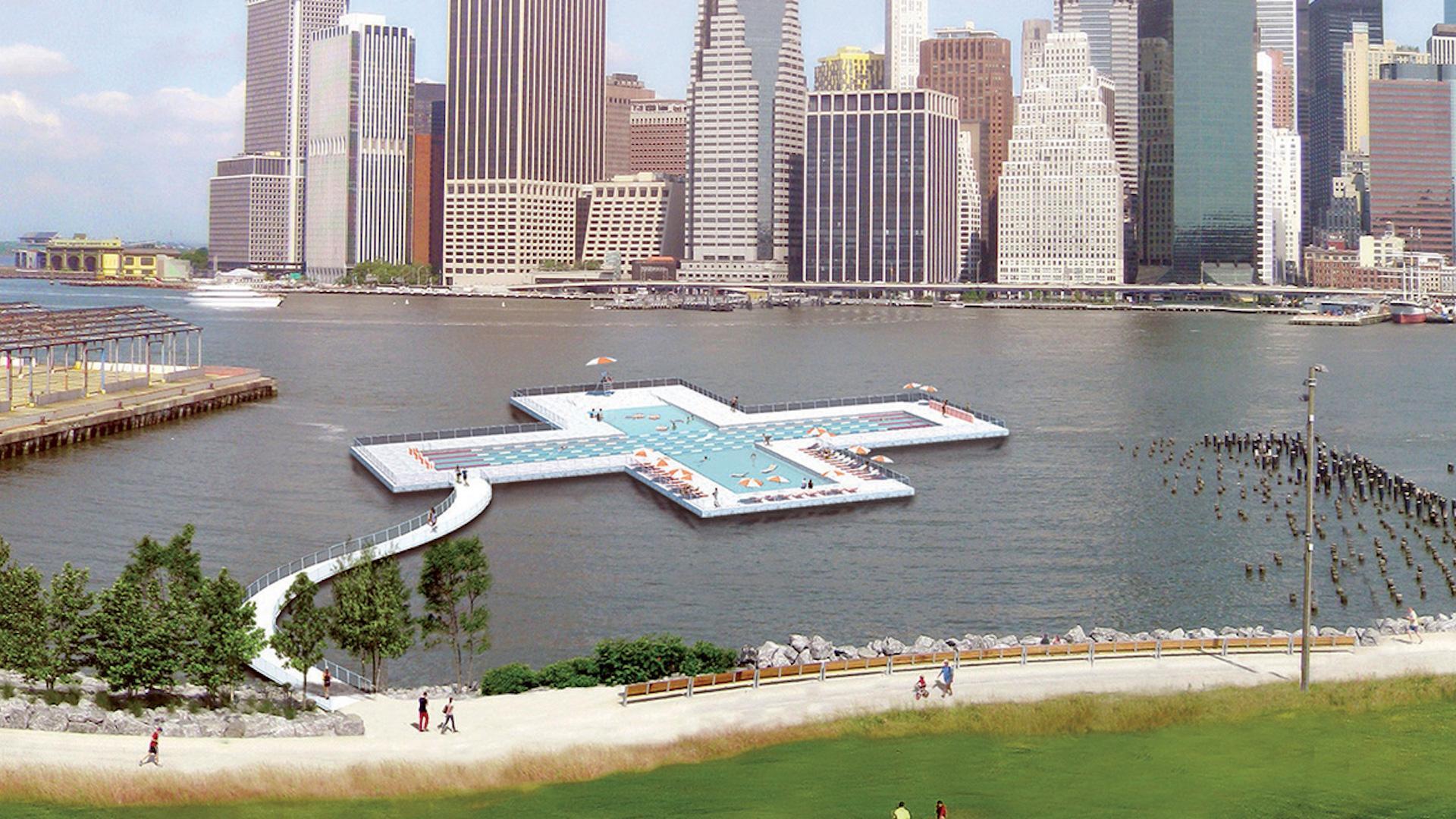 [Imágenes] La piscina flotante en Nueva York by Heineken