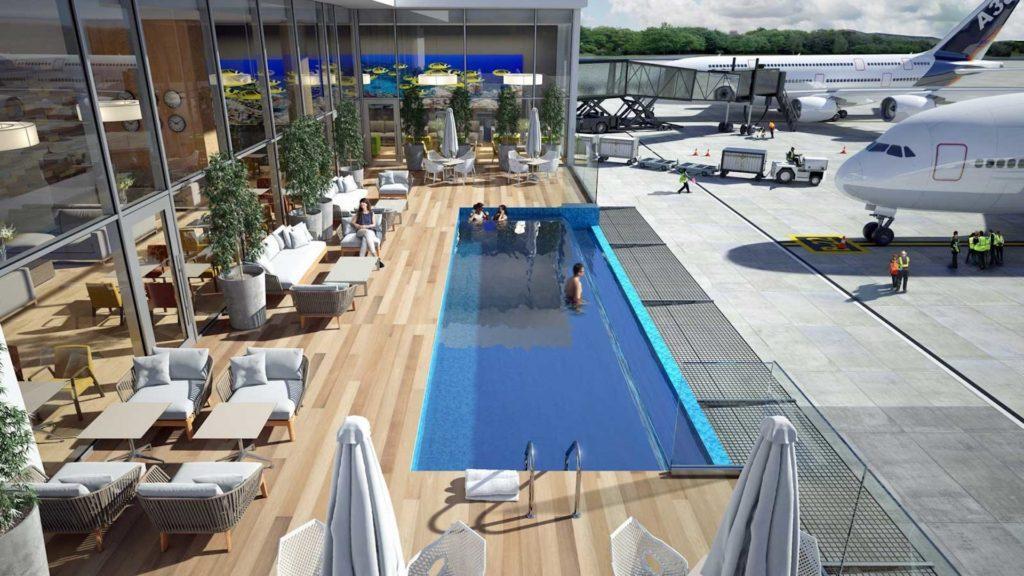Un aeropuerto de Latinoamérica suma este año una piscina para los viajeros