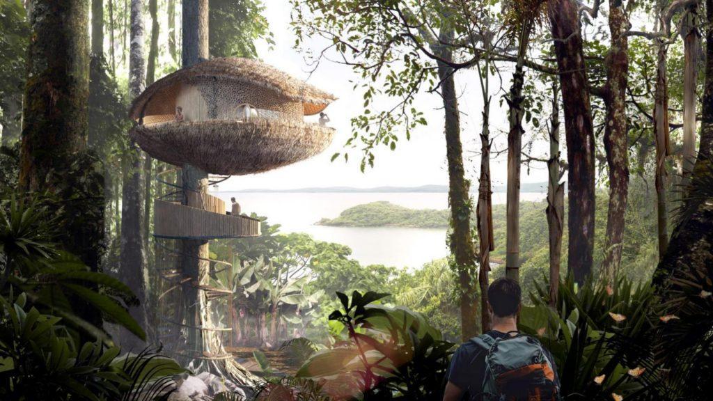 Las sorprendentes casas en el árbol de un eco hotel en Panamá