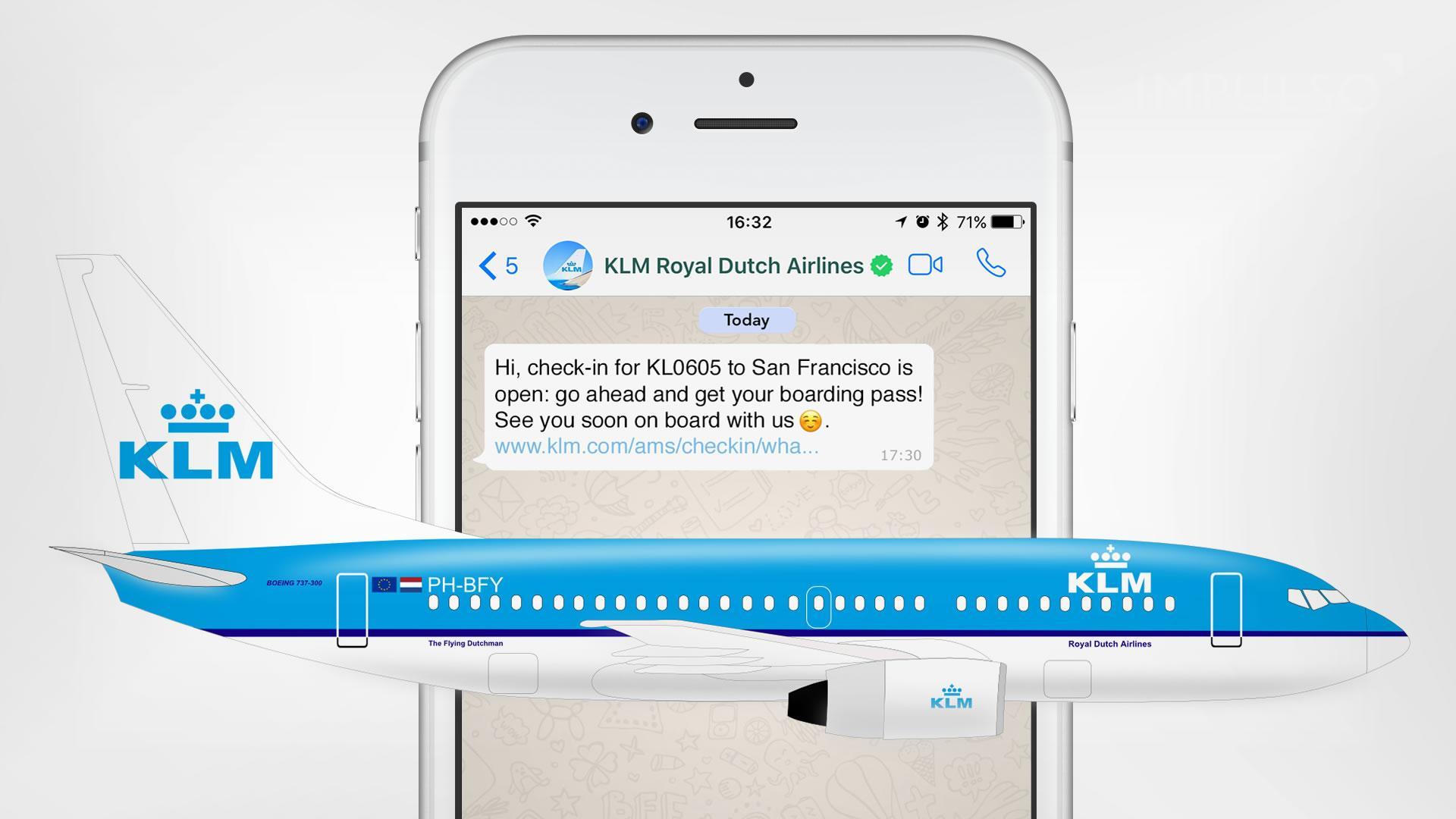 KLM es la primera línea aérea en llegar a WhatsApp y puede cambiarlo todo