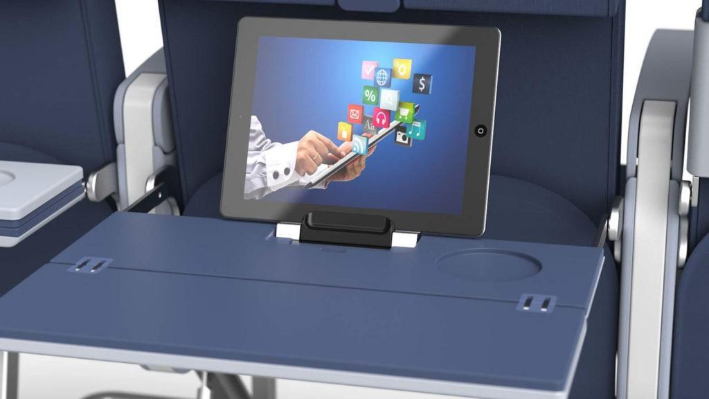 Así podría ser el cargador inalámbrico que nos encontremos en nuestro próximo vuelo