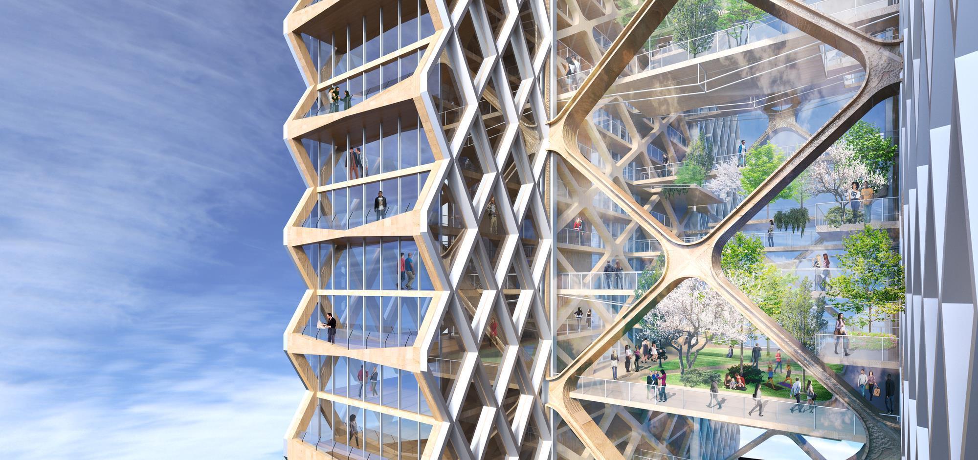 Resultado de imagen para Así será el rascacielos de madera más alto del mundo