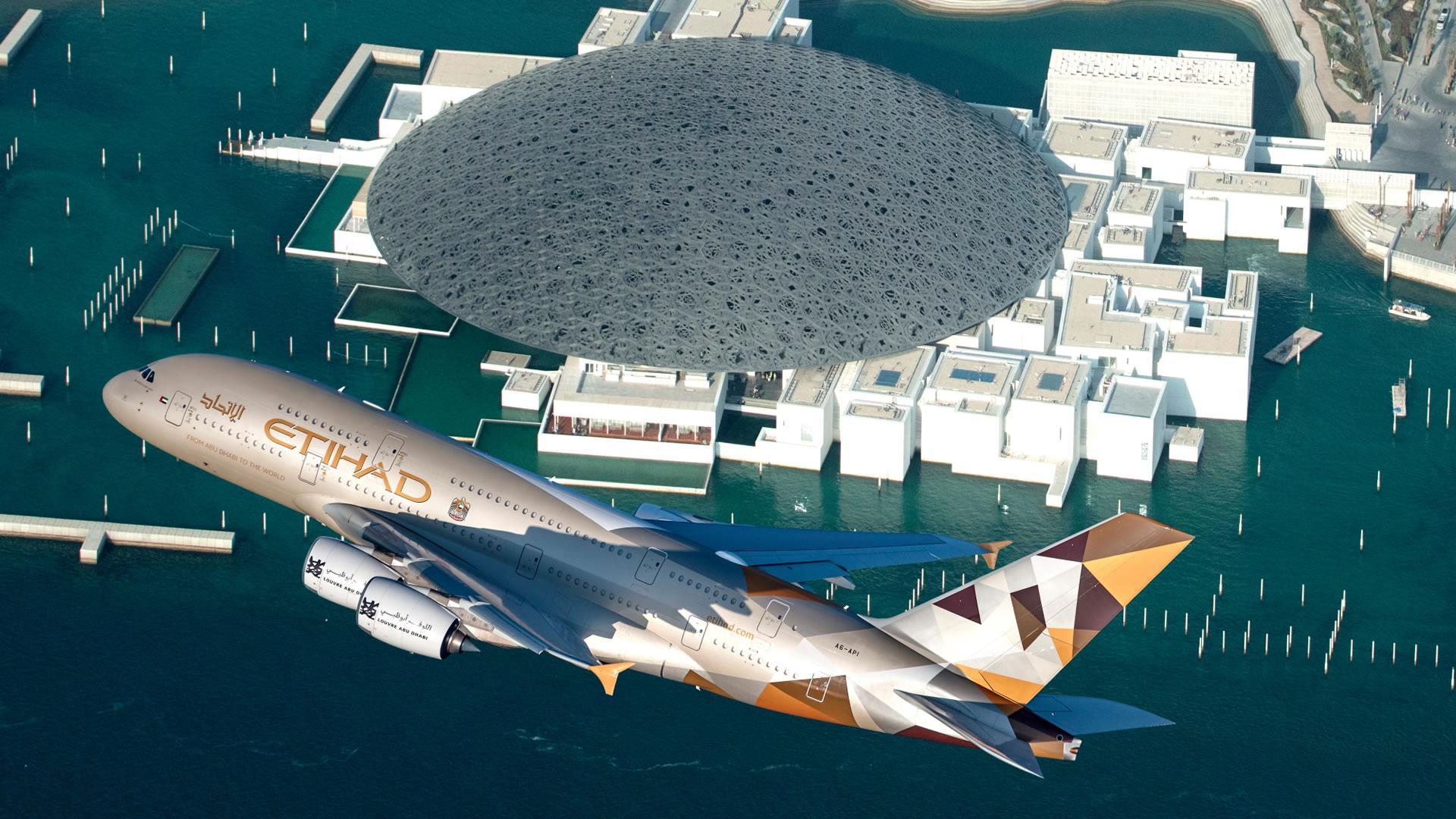 [Video] Etihad vuela con el A380 sobre el Louvre Abu Dhabi para darle la bienvenida