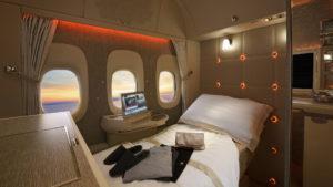 Emirates presentó su nueva cabina de Primera Clase diseñada por Mercedes-Benz y con ventanas virtuales