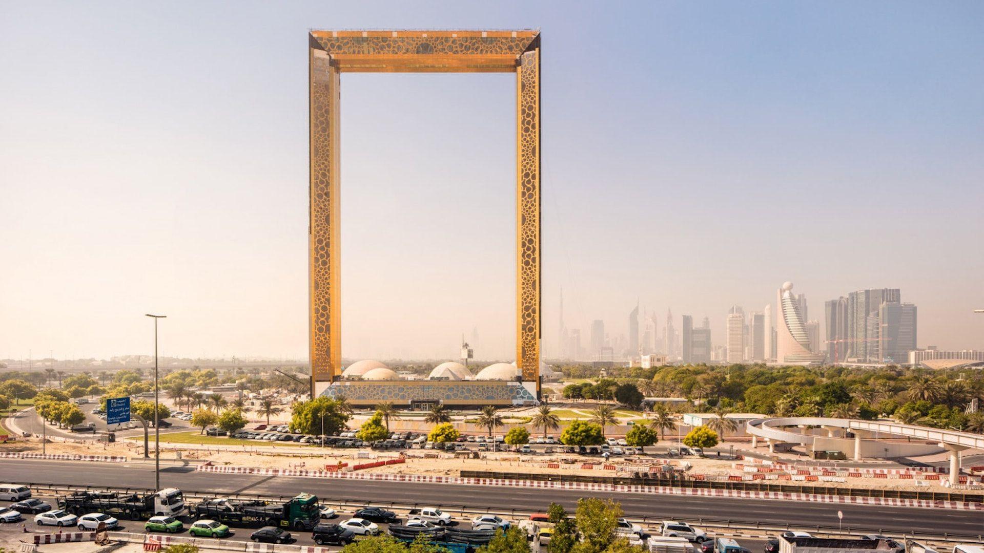 Dubái inauguró el marco para fotos más grande del mundo