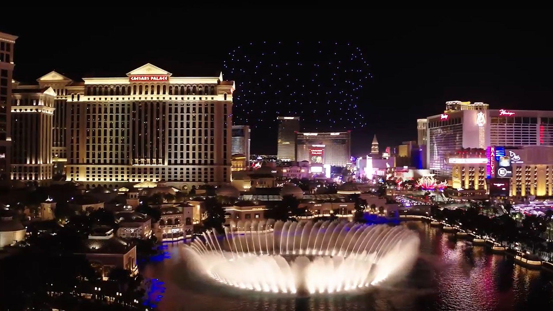 El increíble show de drones y luces de Intel en Las Vegas