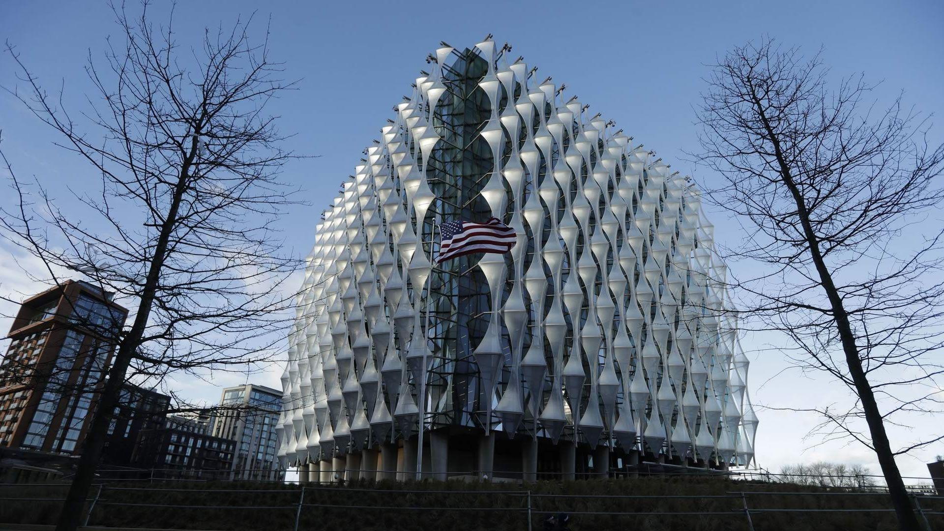 Así es la nueva embajada de Estados Unidos en Londres. La antigua, será un hotel