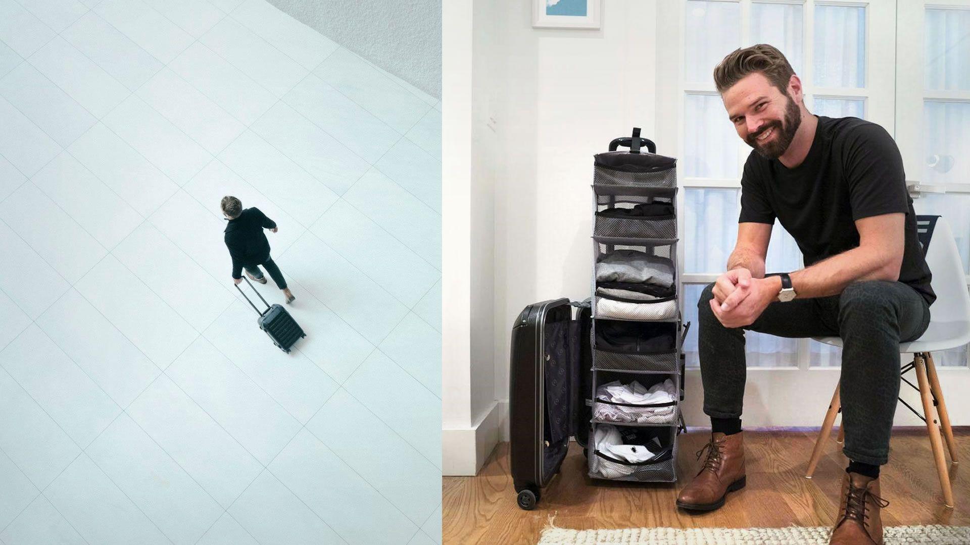La maleta con estantes es ideal para los menos organizados: video