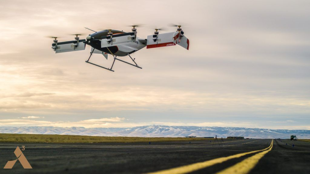 El taxi aéreo urbano de Airbus despegó por primera vez
