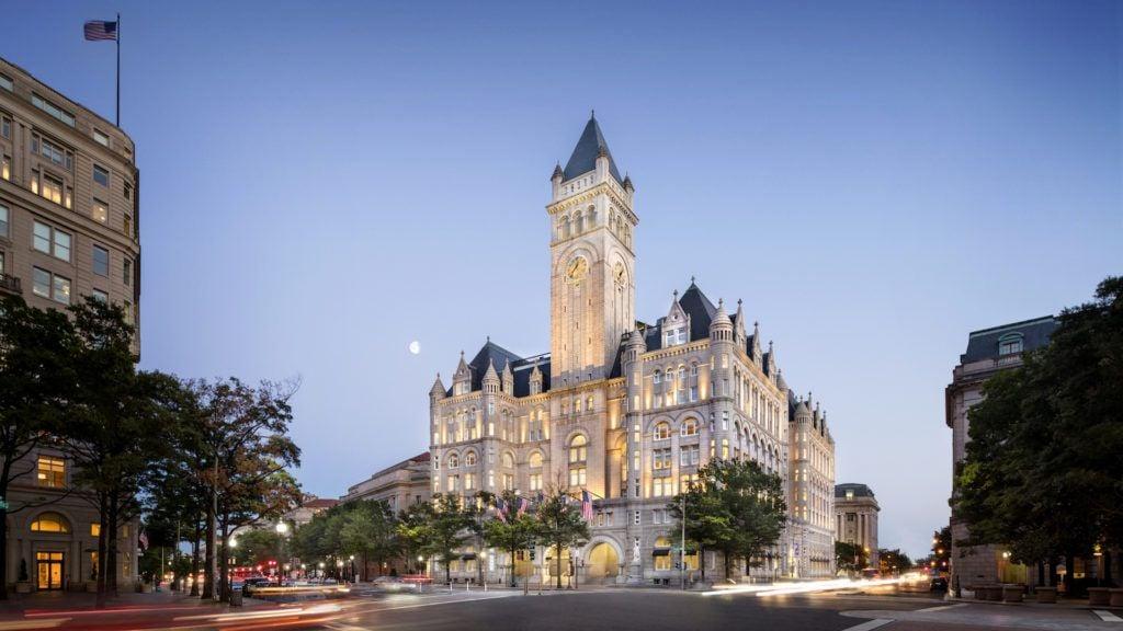Trump tiene el mejor hotel del centro de la ciudad de Washington