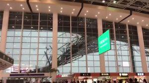 Las increíbles imágenes del colapso de un aeropuerto en China
