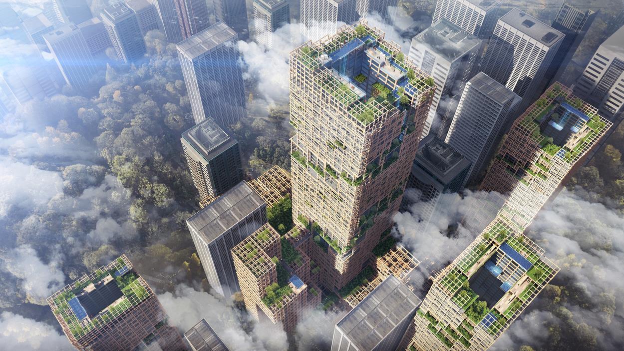 Construirán en Japón el rascacielos de madera más alto del mundo