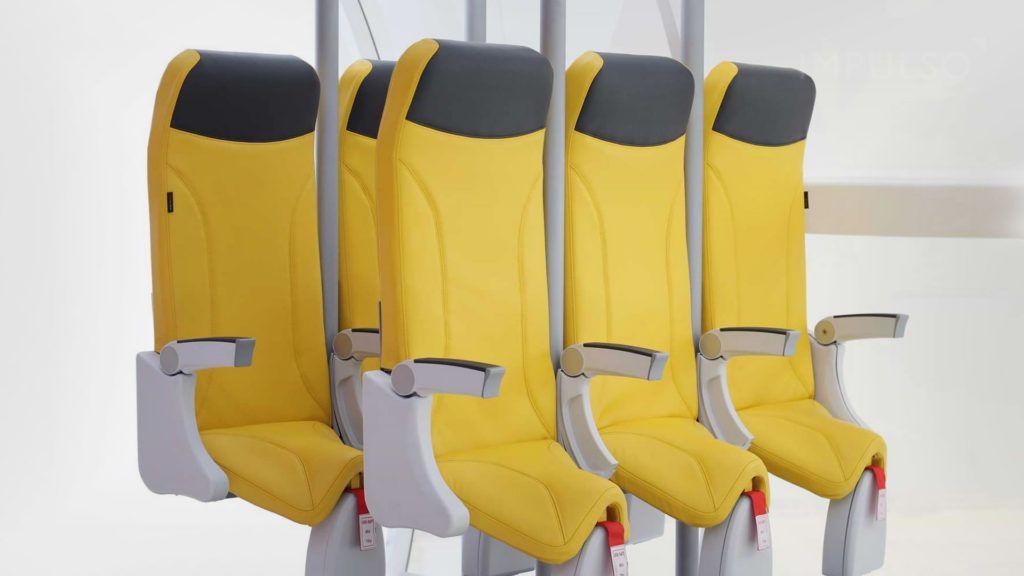 En el futuro, los asientos de los aviones se parecerán a los de una montaña rusa